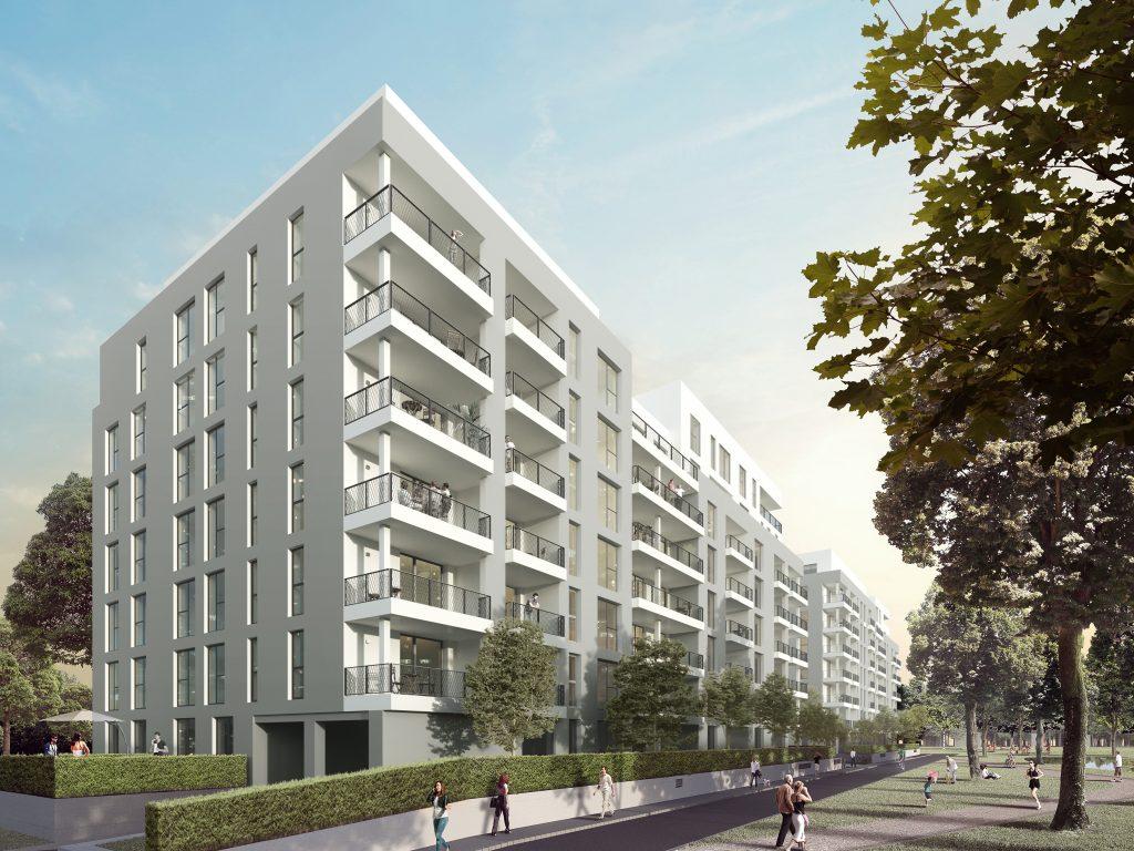 Groß & Partner - Visualisierung Wohnpark Lyoner Straße